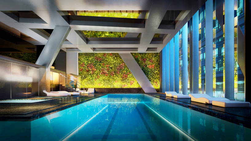 Không gian bể bơi