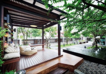 Thiết kế sân vườn biệt thự kiến trúc hiện đại