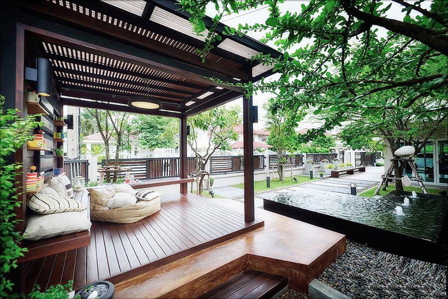 Thiết kế và thi công sân vườn hiện đại