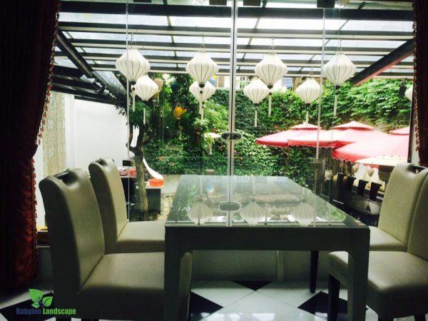 Chăm sóc, bảo trì vườn thẳng đứng tại 101- Nghi Tàm – Tây Hồ – Hà Nội