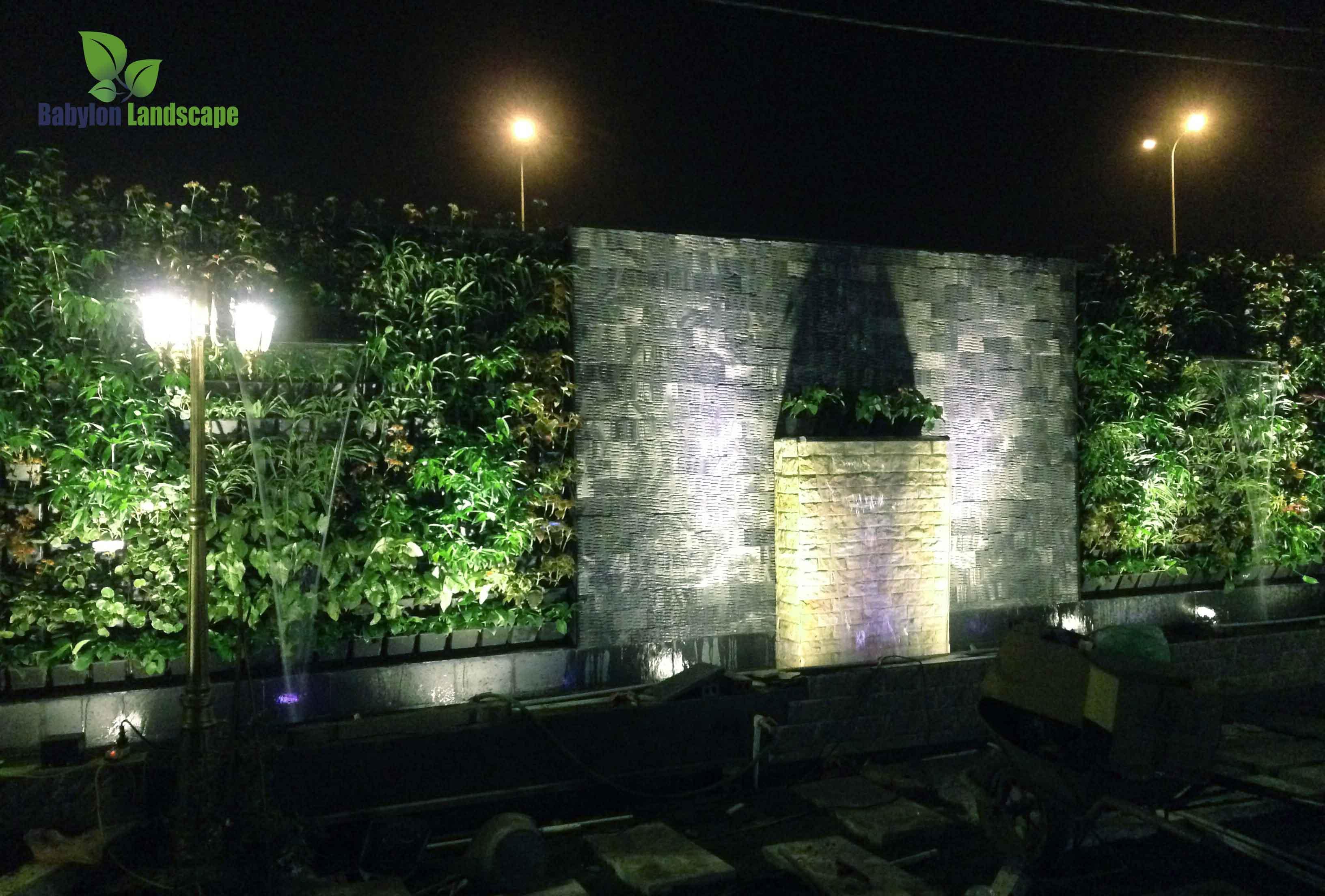 Thi công tường nước