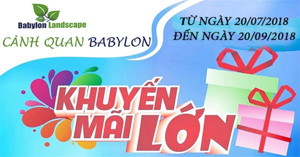 Chương trình khuyến mãi Babylon Landscape năm 2018
