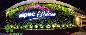 Nhận diện thương hiệu trên vườn thẳng đứng tại Mipec - Long Biên