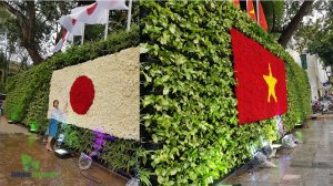 Thi công vườn đứng tại hà nội - Vườn hoa Lý Thái Tổ