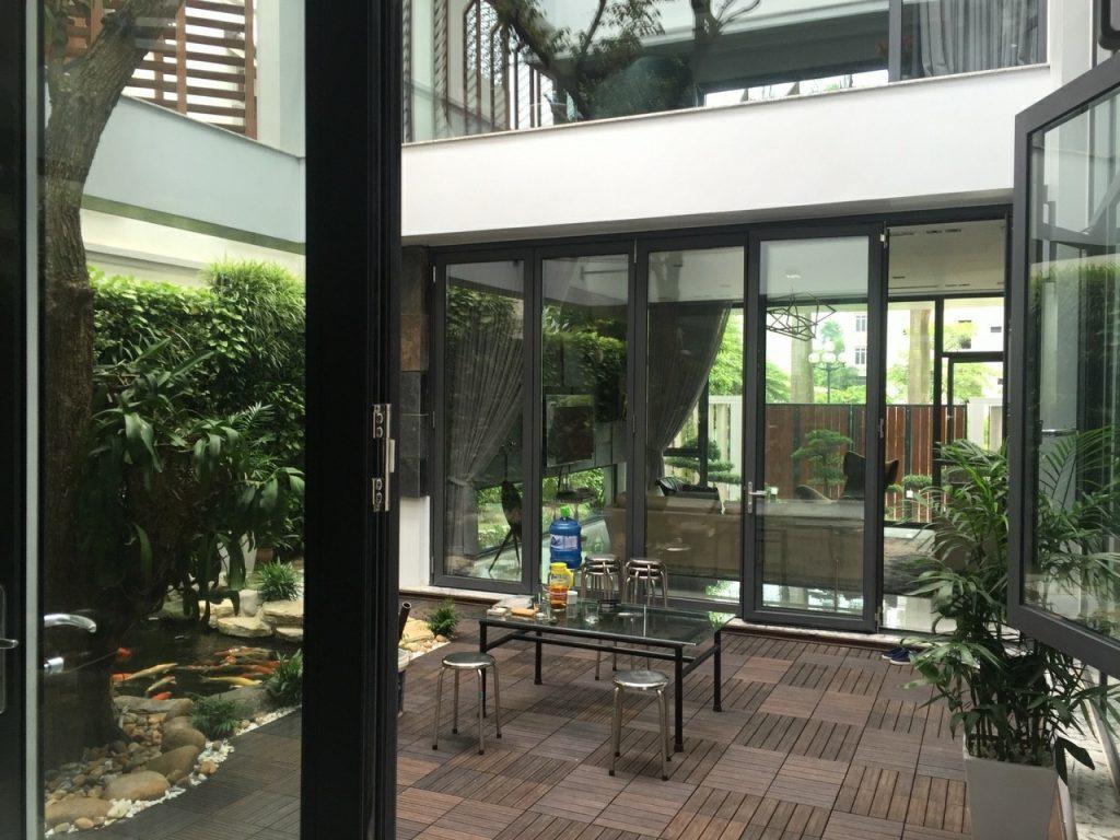Thi công tường xanh tại biệt thự Phú Thọ