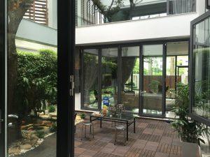 Thi công tường xanh quanh khu biệt thự tại Phú Thọ
