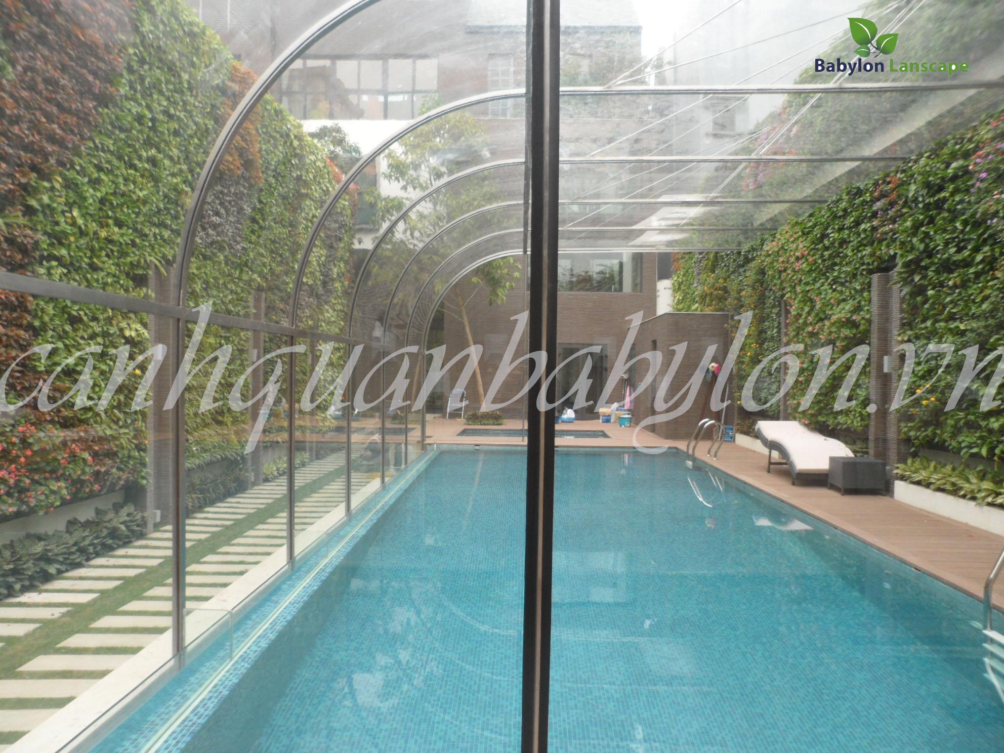 Thiết kế cảnh quan cho không gian bể bơi