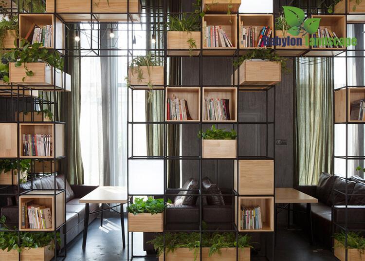 Thiết kế không gian cà phê xanh