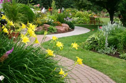 Lối dạo sân vườn biệt thự