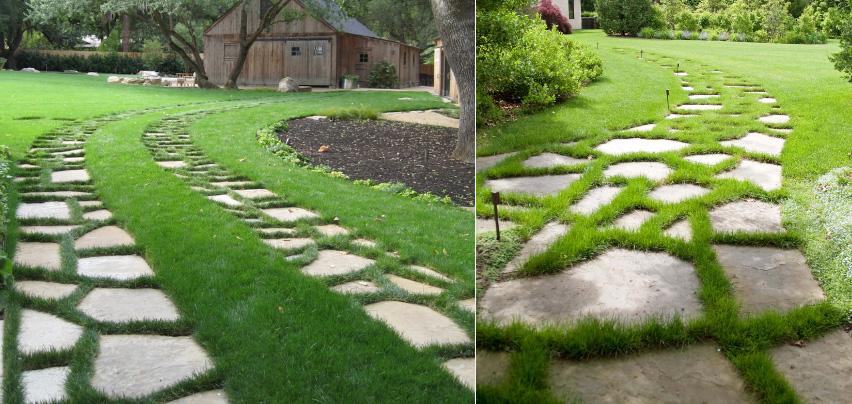 thiết kế lối dạo trong sân vườn