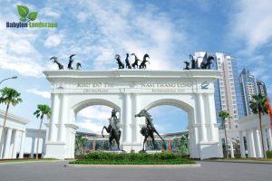 Thi công vườn tường tại khu đô thị Ciputra