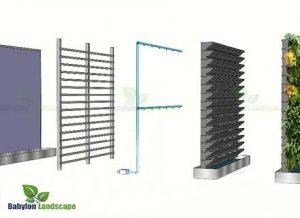 Cấu tạo hệ thống vườn cây treo tường bằng Modul