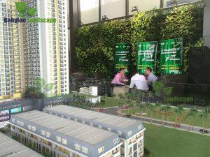 Bài toán về vườn tường xanh cho khu đô thị đang được các chủ đầu tư bàn luận