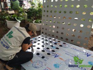 Cách làm vườn đứng khí canh - bước 3 gia công hệ khung
