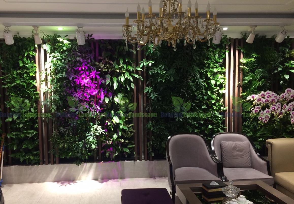 Vườn thẳng đứng khí canh – Thanh lọc không khí hiệu quả