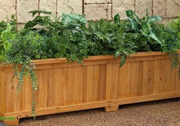 Chậu gỗ trồng hoa cây cảnh sang trọng, bền vững