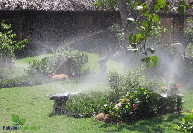 Hệ thống tưới tự động cho biệt thự nhà vườn, tưới cảnh quan, tưới sân vườn
